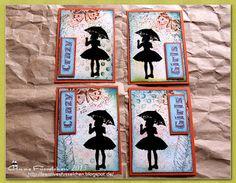 Kreatives Fusselchen: Mädchen mit Schirm