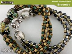Holiday  Bracelet Beading Pattern PDF by Monomint on Etsy, $3.99