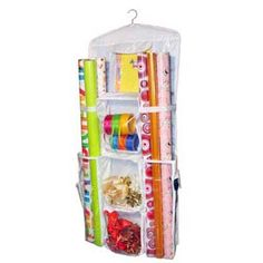 Gift Wrap organizer. Double sided. Hang in a closet or on the back of a closet door!