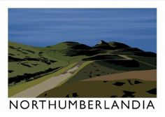 Northumberlandia Art Print Posters Uk, Railway Posters, Travel Posters, Vintage Posters, Northumberland Coast, Travel Ads, Great Places, Places To Travel, Tourism