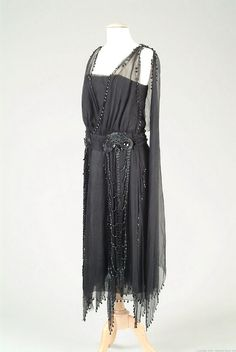 Evening dress ca. 1919 via The Meadow Brook Hall Historic Costume Collection