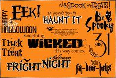 sylly creationz: Wordart Bunch 01 - Halloween ♥