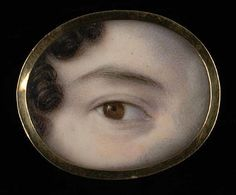 In the 18th and 19th centuries, wealthy british and european lovers exchanged 'eye miniatures' - love tokens so clandestine that even now it is almost impossible to identify their recipients or the people they depict. They were meant to be worn inside the lapel, near the heart. Only 1000 of these are known to exist