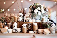 Unique Rustic Wedding Ideas — Wedding Ideas, Wedding Trends, and Wedding Galleries Wedding Trends, Fall Wedding, Wedding Ideas, Wedding Reception, Birch Wedding, Wedding Inspiration, Wedding Tables, Wedding Set, Reception Table
