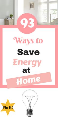 93 Ways to Save Energy at Home Here are 93 ways you can save money on your energy bill as a family by Laura at Savings 4 Savvy Mums Save Your Money, Ways To Save Money, How To Make Money, Best Money Saving Tips, Saving Money, Money Tips, Financial Tips, Financial Planning, Savings Challenge