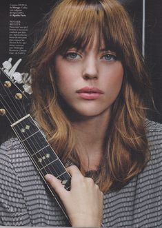 Fringe and blunt layers Elle Spain Aug13