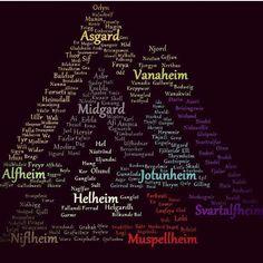 Norse Mythology names and places valknot.