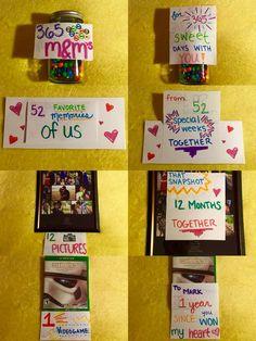1 Year Anniversary Gifts For Him Ideas Boyfriend