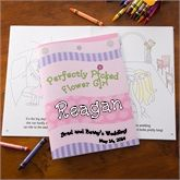 Personalized Flower Girl Coloring Book - Wedding Gifts