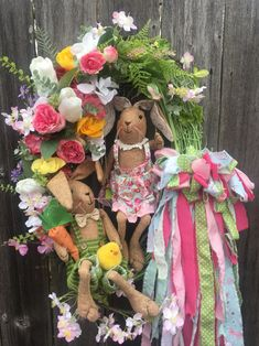 Excited to share this item from my shop: Easter Bunnies Garden Floral Grapevine Wreath With Rag Bow-Bunnies Floral Grapevine Wreath-Floral Grapevine With Rag Bow Wreath-Bunny Wreath . Candy Wreath, Bow Wreath, Wreaths For Sale, Easter Colors, Easter Wreaths, Holiday Wreaths, Grapevine Wreath, Easter Bunny, Grape Vines
