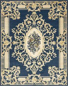 Navy Blue Victoria Area Rug