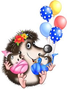 Happy Hedgehog, Cute Cartoon Animals, Baby Images, Cute Clipart, Illustrations And Posters, Baby Cards, Zentangle, Clip Art, Baby Shower