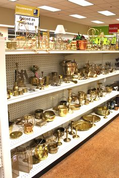 Brass accessories I spotted on the shelves of #Goodwill Arkansas, Little Rock. Beautiful as-is or painted to your liking.