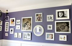 purple walls... dining room? Love it