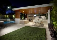 Outdoor spaces designed for entertaining