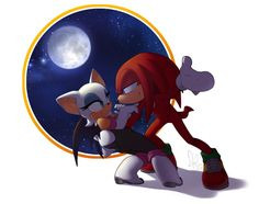 Knuckles and Rouge! I always had a problem with these two being together, but recently I can't recall what those problems were. Pic 2 of Couples week! Dancing in the Moonlight Sonic The Hedgehog, Hedgehog Art, Shadow The Hedgehog, Sonic & Knuckles, Create Your Own Image, Rouge The Bat, Dancing In The Moonlight, Sonic Fan Characters, Sonic Franchise