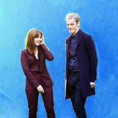 The Doctor (Peter Capaldi) and Clara Oswald (Jenna-Louise Coleman)