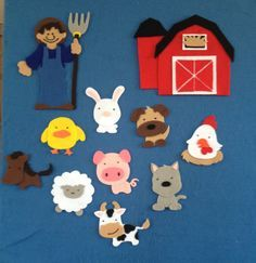 This set includes 11 felt pieces to help you illustrate the classic song Old McDonald had a Farm. Great for interactive play with toddlers