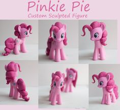 My Little Pony Cake Topper Tutorial Designs Ideas Here is Pinkie Pie with new, custom sculpted hair. My Little Pony Party, Cumple My Little Pony, Anniversaire My Little Pony, Little Girl Cakes, Imagenes My Little Pony, Cake Topper Tutorial, Fondant Animals, Fondant Toppers, Machine Embroidery Designs