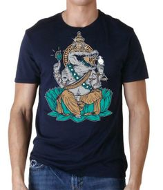 Ego King Clothing holy crocodile. Illustrated by Brotherhood member Michael Kiener. 2013.