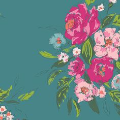 Extempore in Gala RAYON fabric from the Signature collection designed by Sharon Holland for Art Gallery Fabrics. SKU Shop now at Stash Fabrics! Canvas Fabric, Fabric Art, Cotton Canvas, Fabric Design, Teal Fabric, Draped Fabric, Floral Fabric, Gala Design, Stash Fabrics