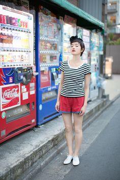 agnès b. street looks with Chiharu.- my type of look,shoes & all..mus see wat i hav in my wardrobe 2 hav a similar look =p