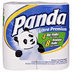 Panda Bath Tissue Double Roll 4-pk 200- Sheets