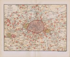 Antique Paris and France Map Printables - Knick of Time