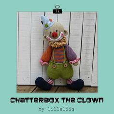 PATTERN  Chatterbox the Clown  crochet pattern by lilleliis