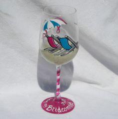 Painted Wine Glasses | Hand Painted Wine Glasses