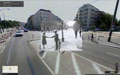 Berlin Wall in Google Street View