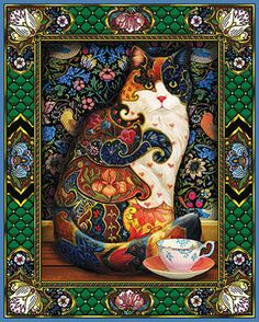 Painted Cat Jigsaw Puzzle   1000 Piece Puzzles   Vermont Christmas Co. VT Holiday Gift Shop