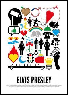Cartel dedicado a las mejores canciones de Elvis Presley