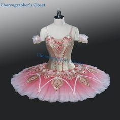 Professional Pink & Golden Ballet Tutu Pancake Style Tutu Nutcracker YAGP MTO #Unbranded