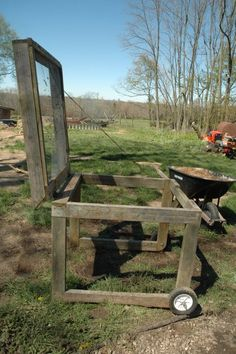 Mobile soil sifter - for all of those sticks in your compost bin! I so Need this