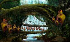 Concept village for cinematic