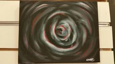 """My latest creation, """"Dark Rose"""". Acrylic on canvas"""