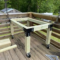 Brackets For 4 x 4 Posts Heavy Duty Shop Table Pergola Diy Wood Projects, Woodworking Projects, Garden Furniture, Diy Furniture, Patio Design, House Design, Cnc Table, Carpet Stair Treads, Modern Pergola