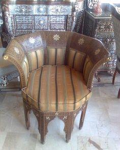 #cafe - كرسي دمشقي صناعة يدوية