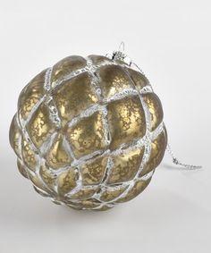 Quilted Ball Glass Ornament #zulily #zulilyfinds