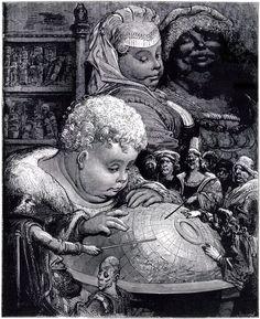 L'Education de Gargantua - Gustave Doré (XIXe siècle). Source: Rabelais, Gargantua, 1534.