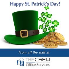 Happy St. Patrick's Day from THE CREW! May you find your pot of gold at the end of the rainbow! ‪#‎StPaddysDay‬
