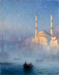Ian Konstantinovich Aivazovsky (1817-1900) View of the Port of Constantinople - Louvre