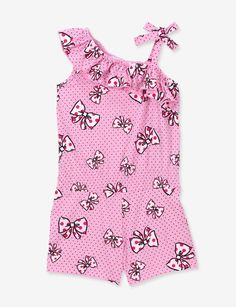 BEAUTEES GIRLS BOW ROMPER