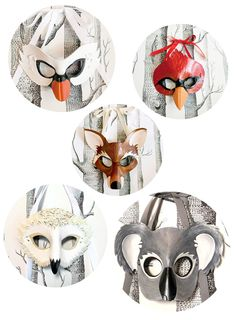 Amazing masks for Halloween.