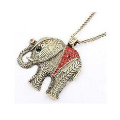 N036 Anhänger-Halskette JUMBO ELEPHANT Crystals aus Großhandel und Import