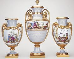 Set of chinoiserie vases first purchased by Marie-Antoinette in 1779.