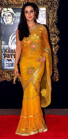 Preity Zinta n trending saree look Bollywood Saree, Bollywood Fashion, Bollywood Actress, Indian Celebrities, Bollywood Celebrities, Indian Dresses, Indian Outfits, Pretty Zinta, Stylish Sarees