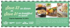 Pinned August 30th: $3 off dinner at Old #Country Buffet Ryans Hometown Buffet & Fire Mountain restaurants #coupon via The #Coupons App