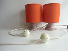 Vintage Tischlampen - 1 Paar Nachttischlampen  DDR Wohnraumleuchten  - ein Designerstück von MaDuett bei DaWanda